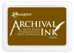 Ranger Archival Ink Pad, Coffee - 90mm x 62mm